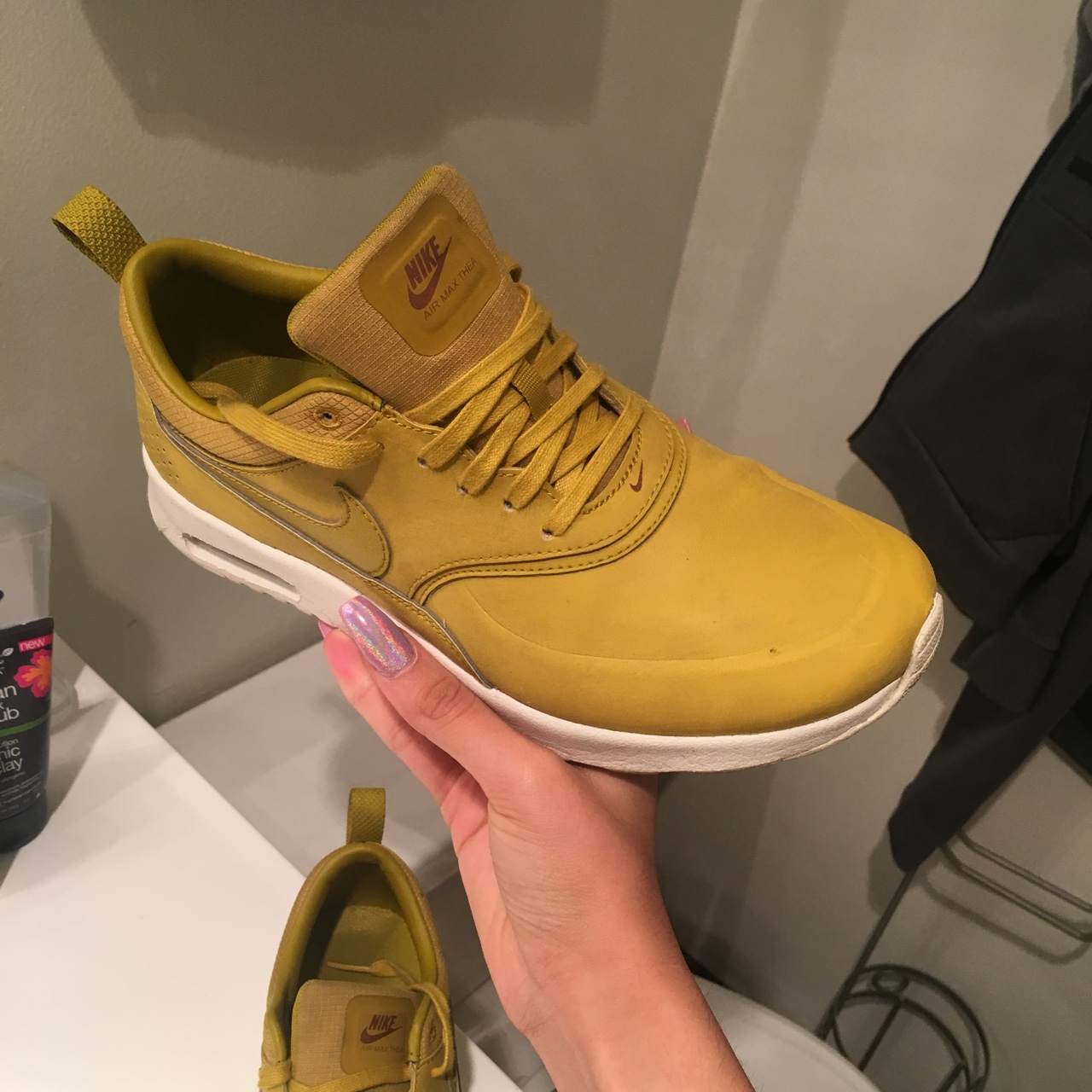 Nike air max Thea Beautiful mustard color I no Depop