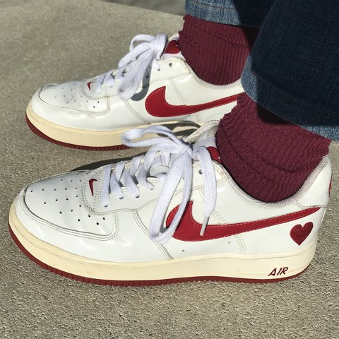 Valentines Day 2004 Deadstock Af1s Nike Air Force Ones With Depop