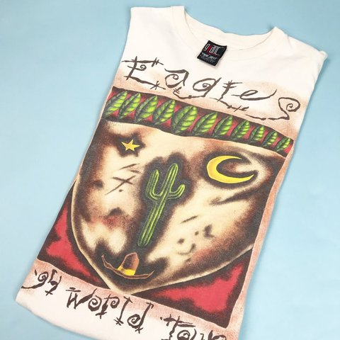 88b3cfae 1994 Eagles World Tour Giant Tag Band Tee This tee was hard - Depop