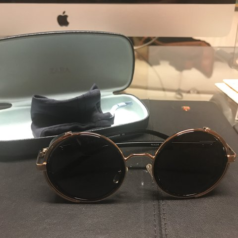 ccf4a986d2 Black round sunglasses from Zara. They come with the case. - Depop