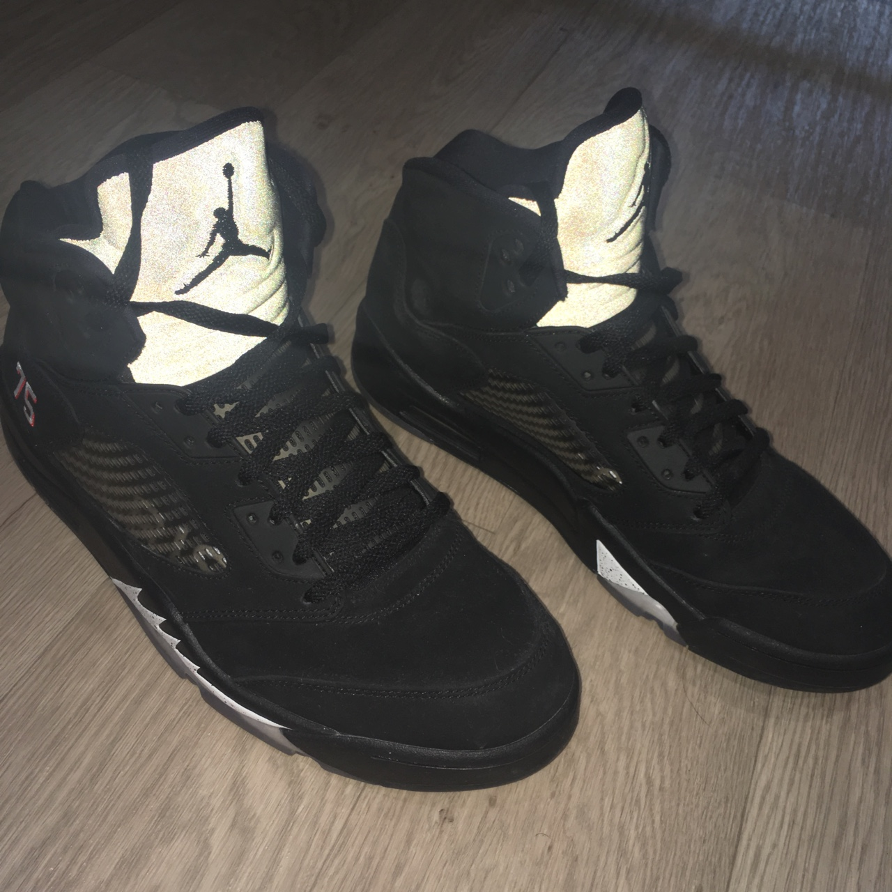 size 40 6118c dac5d PSG Jordan 5 9/10 condition Minimal sign of wear,... - Depop