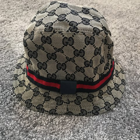 93d2669d62a8d Gucci GG canvas bucket fedora hat kids👌 Worn once on like - Depop