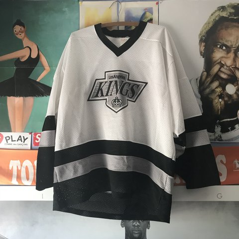 15d91c86f Vintage LA Kings hockey mesh jersey. Nice cop for any person - Depop