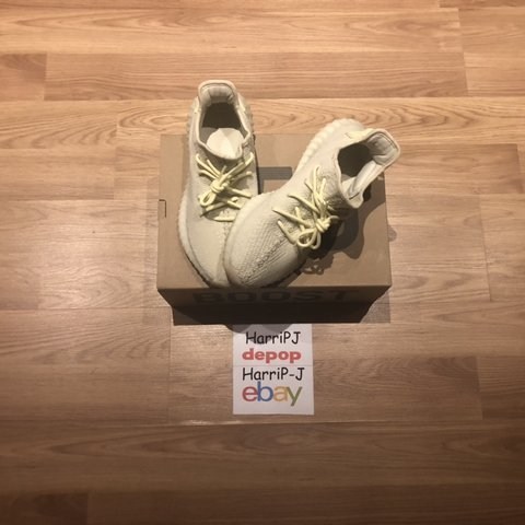 4c3ca9bcd Yeezy 350 v2 butter. These are in great condition worn a few - Depop