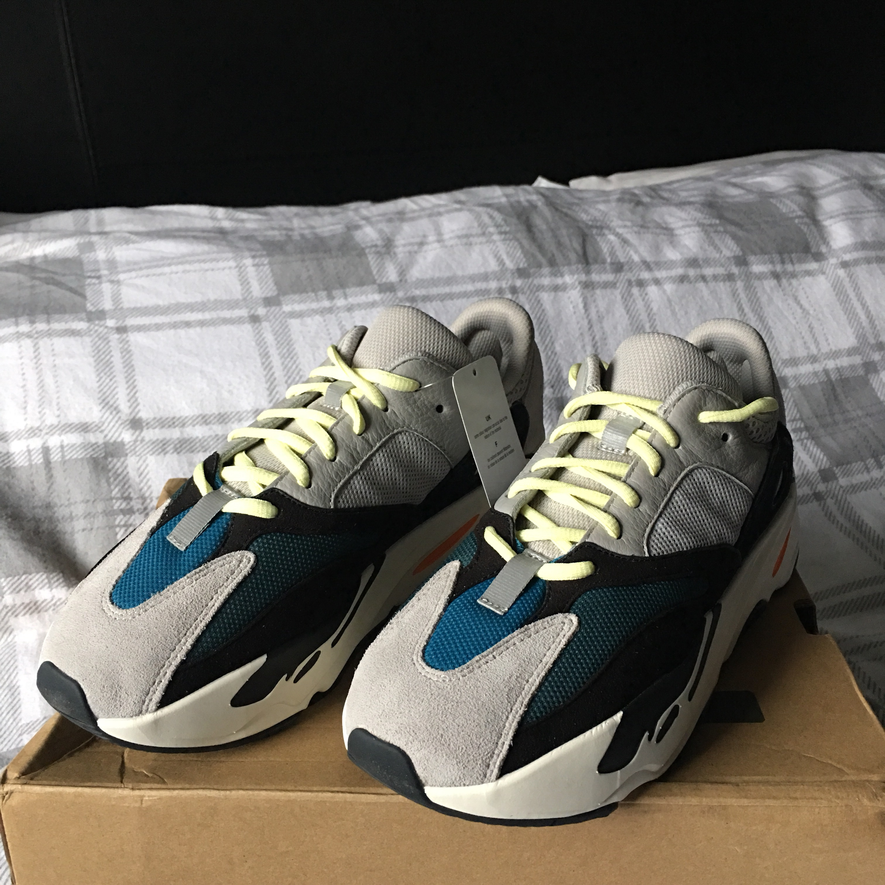 new arrival ff0e4 e7ca7 Adidas Yeezy Boost 700 Wave Runners New With Box... - Depop