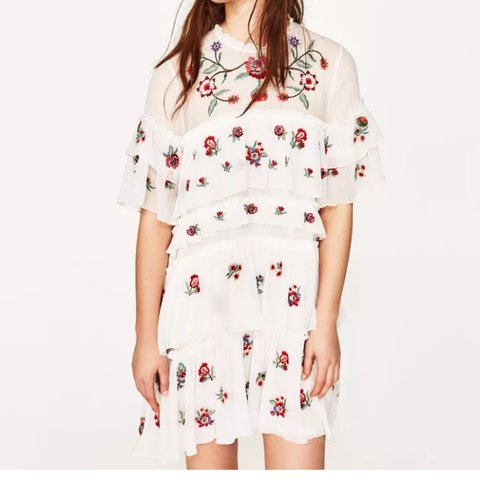 Sold out bloggers fave zara white floral ruffle mini with depop zara white floral ruffle mini with depop mightylinksfo