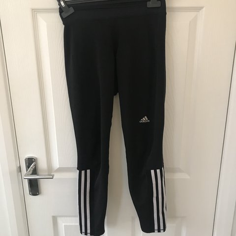 cf6142dd709b3 @kellyquinn. 6 months ago. Stoke, United Kingdom. Adidas three stripe gym  leggings. Size UK women's small