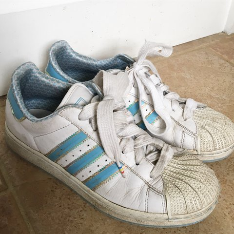 c92d5ff468c3 @tiaa___. 2 years ago. Winkfield, United Kingdom. Adidas rare vintage  superstars in light blue ...