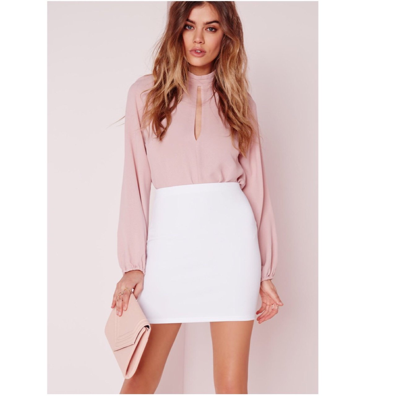 White Skirt from Missguided. Worn twice before. On sale for - Depop 43ee3dcce