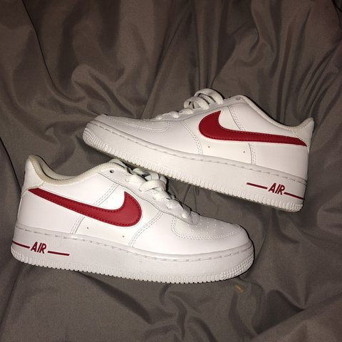 Junior Air Force 1 (AF1) white with red