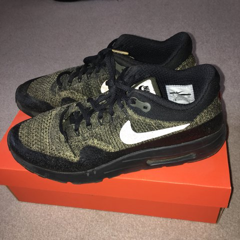 5281d6b0b6489 Nike Air Max 1 Ultra Moire Flyknit Olive Green Good 8 10 of - Depop