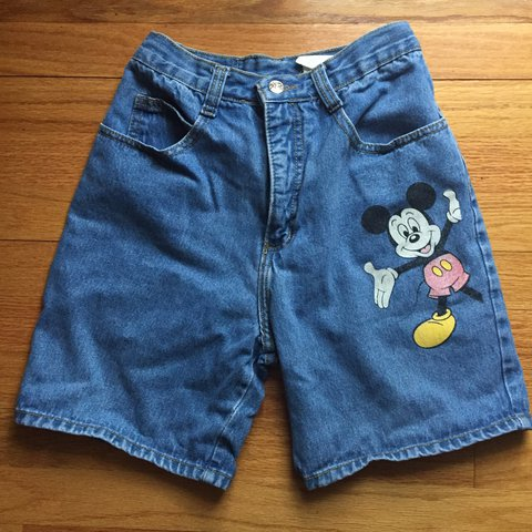 fdb3bd7ea7 Mickey Mouse denim shorts , these r sum