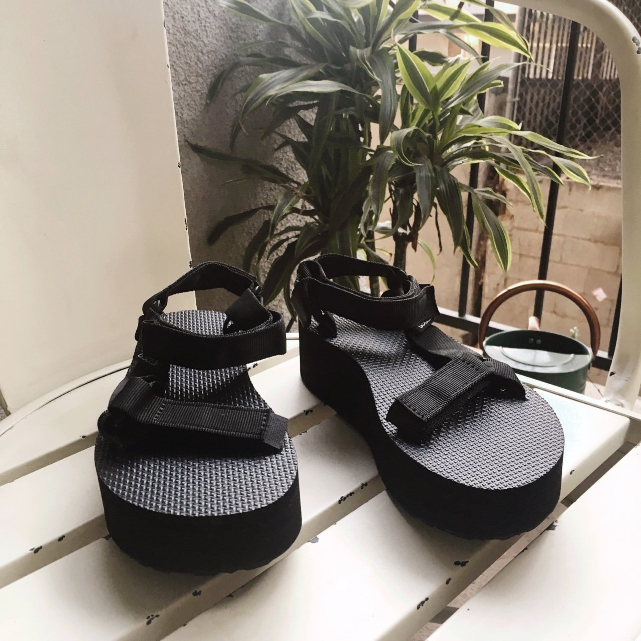 5ff391b09f34 TEVA UNIVERSAL FLATFORM SANDAL • the most comfortable + • up - Depop