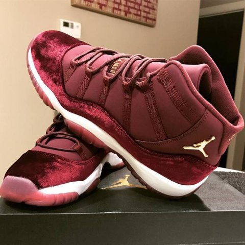 official photos d7b7f f817a  tulania. 11 months ago. United States. Air Jordan 11 Retro Heiress Night  Maroon ...