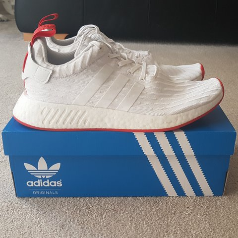 4f042ed7fee56 Adidas NMD R2 in OG White Red colourway. Size UK 10 but can - Depop