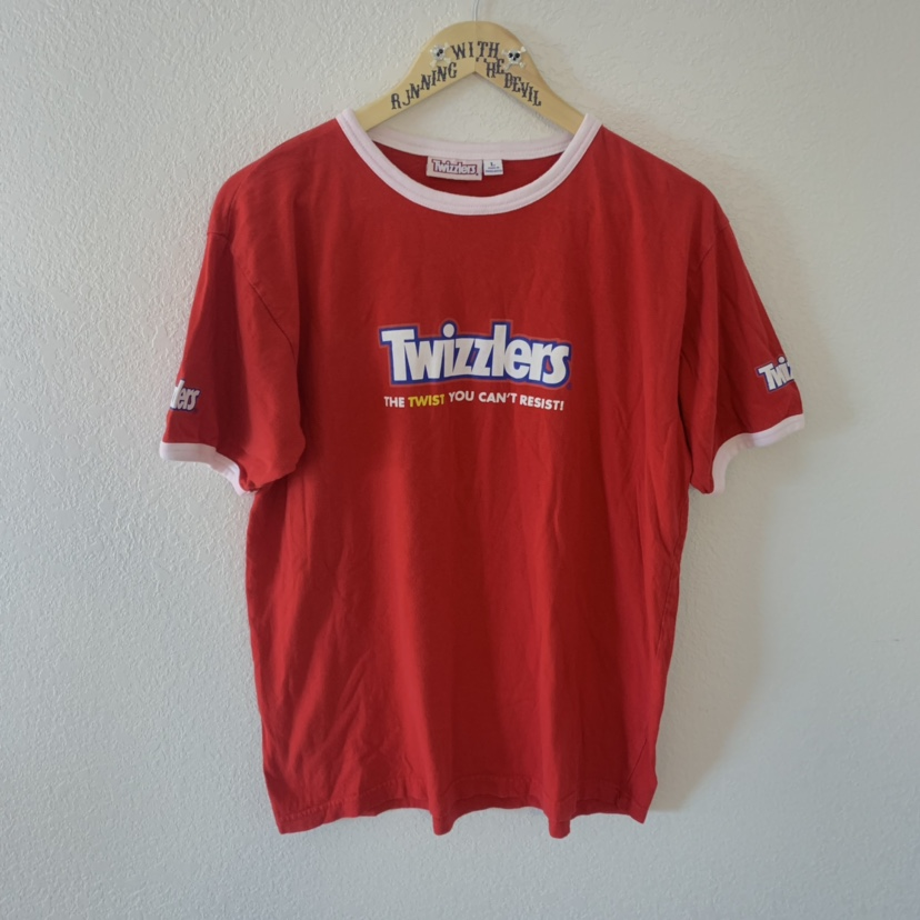 Vintage TWIZZLERS licorice candy brand red and white