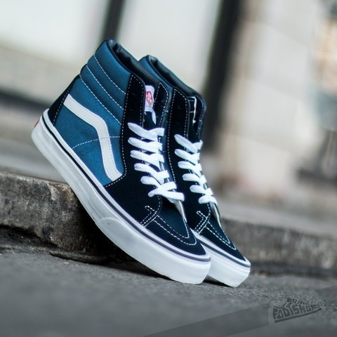 8e63b9b21aa Vans SK8 Hi. Navy Blue Two Sizes Available