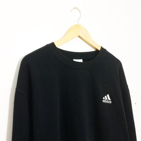 a962e38e @thejumperjunction. 2 years ago. Bracknell, United Kingdom. Vintage retro  90s 80s Black adidas Sweater ...