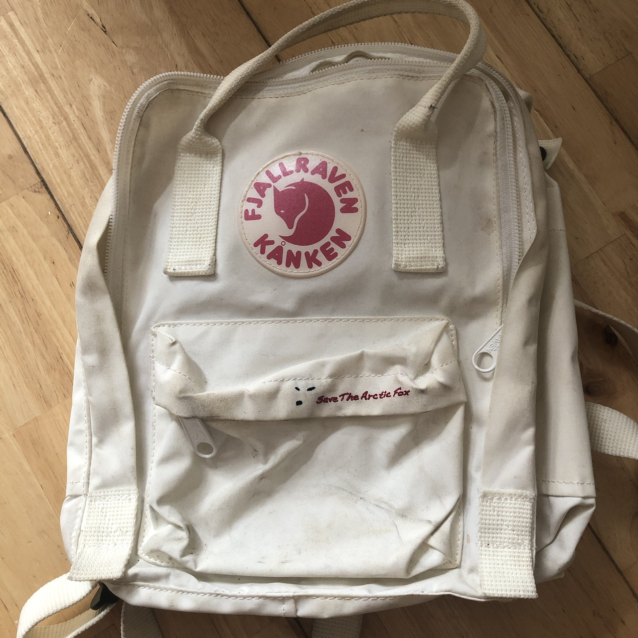 cheap best online 100% top quality Fjallraven kanken bag backpack rare white Special... - Depop