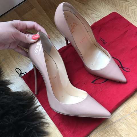 ba4c3d125a8d Christian Louboutin So Kate heels in nude size 38 1 2 (I m a - Depop