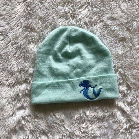 90cf5f8f 🌈Little Mermaid Beanie •great condition no flaws •honestly - Depop