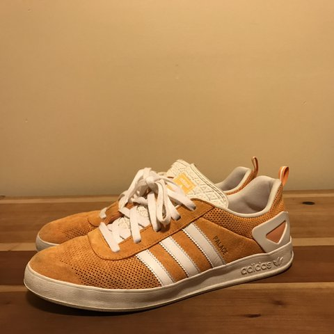 89d99a22 Adidas x Palace Pro Suede Sneakers - Pumpkin Colorway Size - Depop