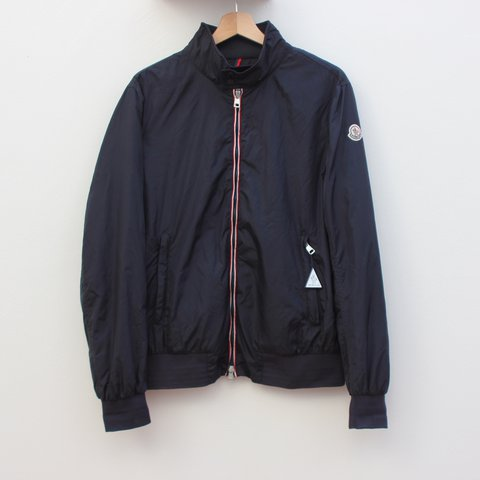... moncler darlan giubbotto jacket in navy. for some reason in depop