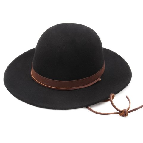 174137939f04c ... czech brixton black felt deadwood hat wild west cowboy vibes in depop  211a2 d4121