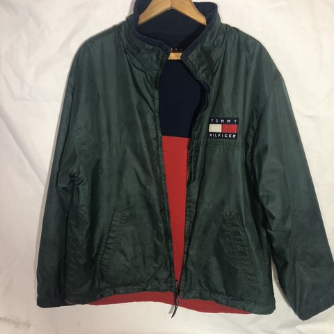 08536ada @mischievousmal. last year. Oklahoma City, United States. Vintage Tommy  Hilfiger Jacket Mens Green windbreaker ...