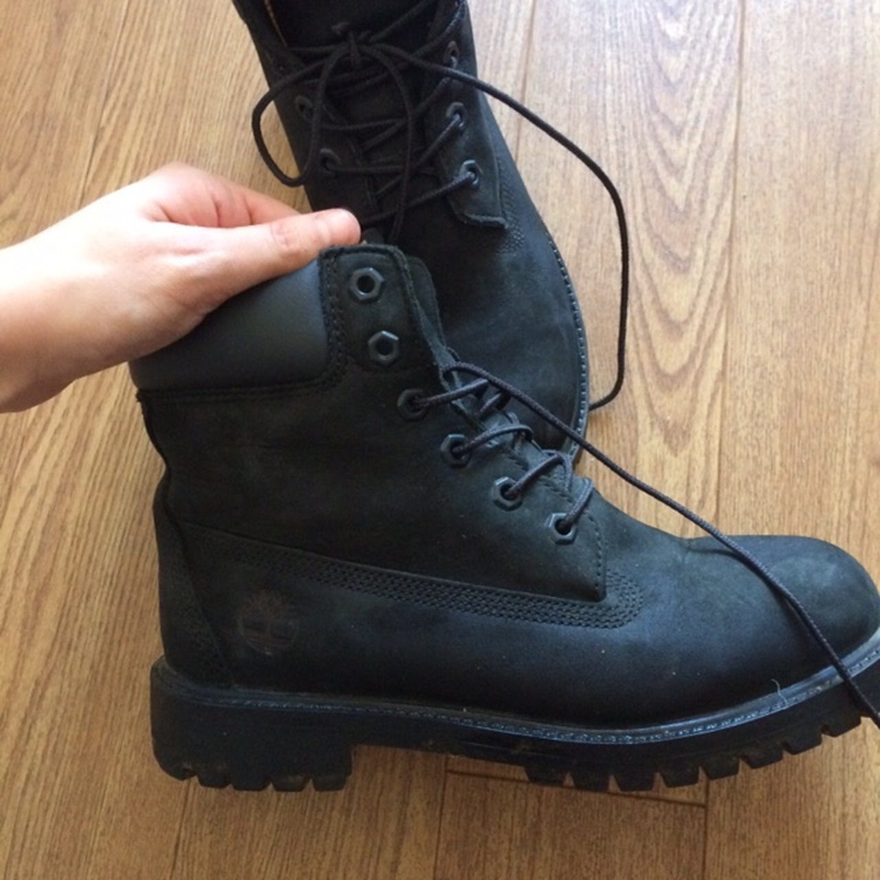c168fde6f73 RESERVED Size 5.5 will fit a normal size 5. Black boots but - Depop