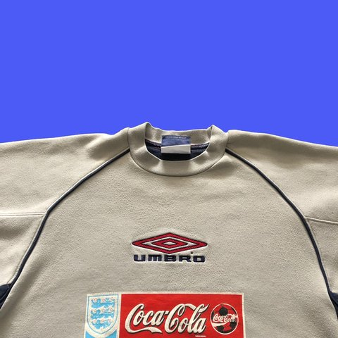 0a5c031cde ➰ VINTAGE WAVY GREY UMBRO EMBROIDERED SPELL OUT SWEATSHIRT ➰ - Depop