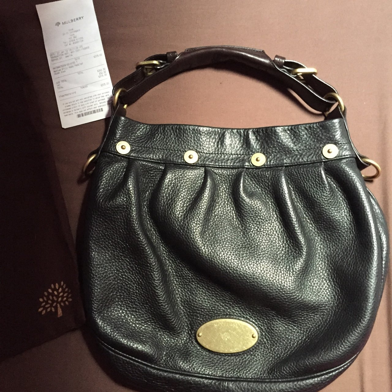 d7c58ebe58 Black Mulberry Mitzy hobo bag in small