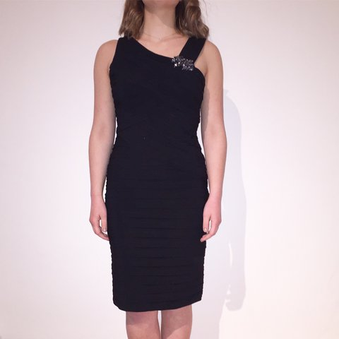 547ce4d264 Classy black cocktail dress!! Pleated  layered