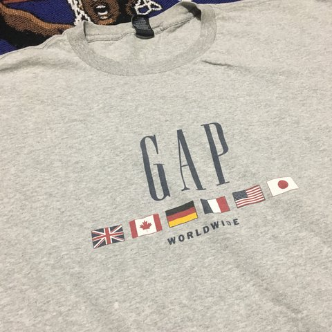32569399 Vintage Gap Worldwide T-Shirt Size: XXL Condition: you any - Depop