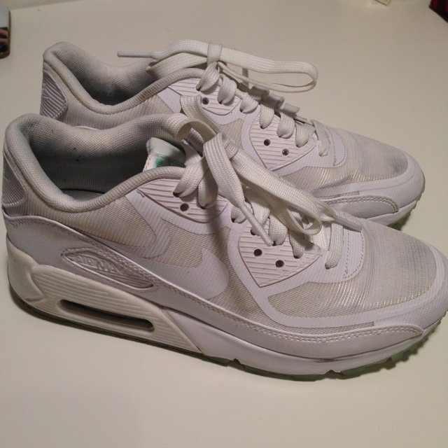 c0d53d1abb93 Nike air max 90 cmft prm tape white glow in the dark women s - Depop