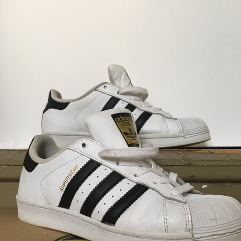 ed73a06ca7ed9 ☁️Shell-toe B W Adidas☁ Haven t worn these in a while! I - Depop