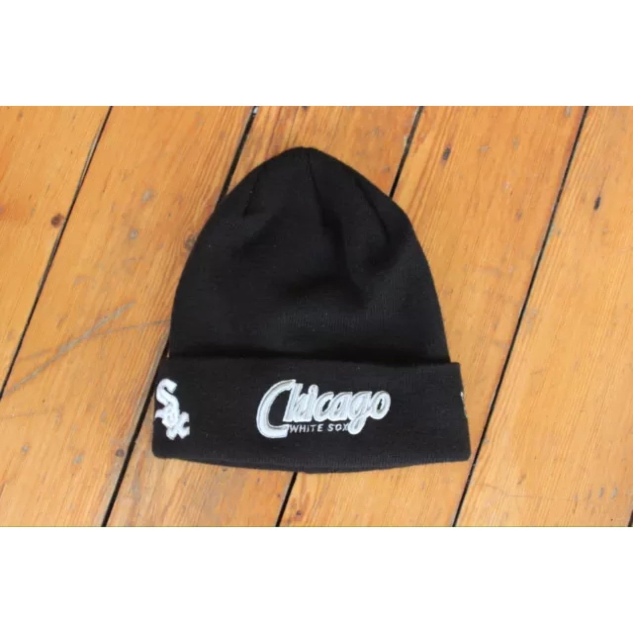 5927c11d Chicago beanie New era in black One size fits all Like Nike - Depop
