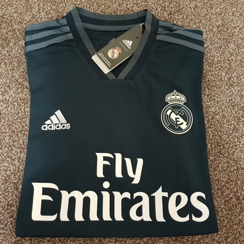 a1201e2ca Real Madrid 2018 2019 Away kit  jersey + Sealed with tags - - Depop