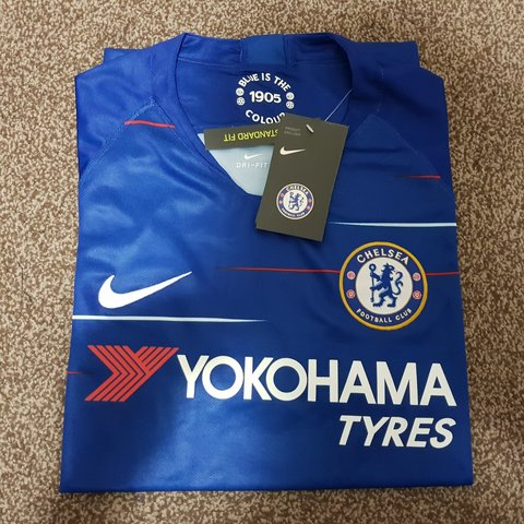 3b1bb80de Chelsea FC 2018 2019 Home kit  jersey + Sealed with tags - a - Depop
