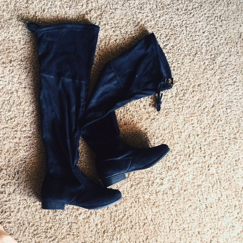 8c4cf26f2e3 Black thigh high boots from Rue 21 •nice material •never as - Depop