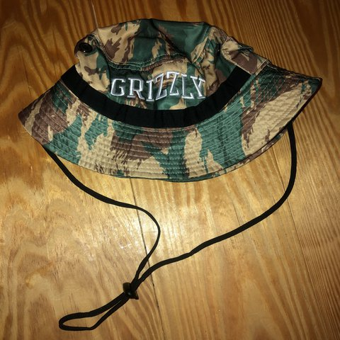 287c4164b80 Perfect choice for summer! Grizzly Griptape camouflage hat. - Depop