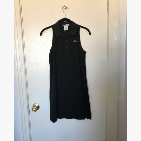a65245c9ee773a Lacoste black collared sleeveless mini dress. Frat goth  3 - Depop