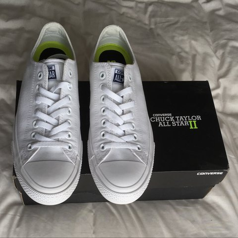 7684f506bba9 Brand new Converse white Chuck Taylor All Star II Oxford uk - Depop