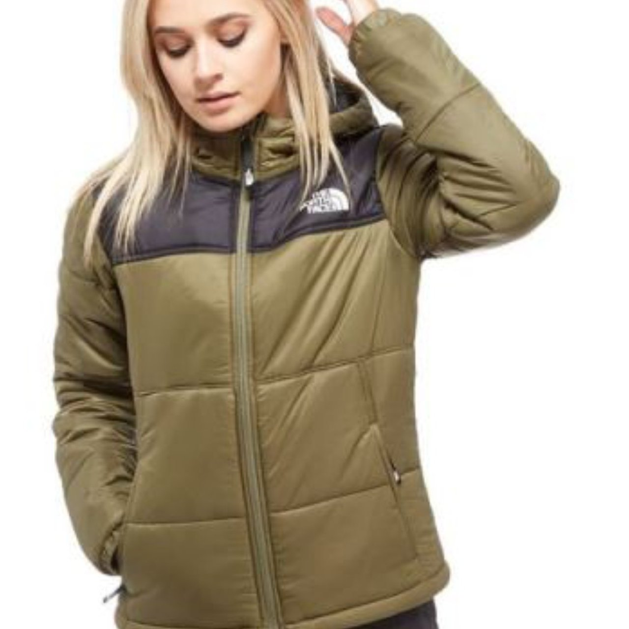 The North Face Padded Jacket - Khaki - Womens The North Face - Depop 9235e73cb