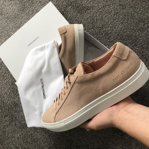 be507ffe16ff Common projects original Achilles low suede worn perfect any - Depop