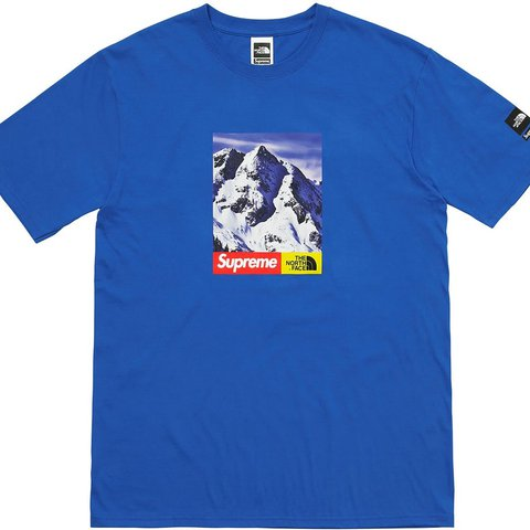 Supreme North Face Blue T Shirt 0