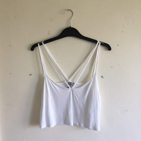 f3d3736fbfe ASOS double strap crop top- only worn a couple of timezz to - Depop