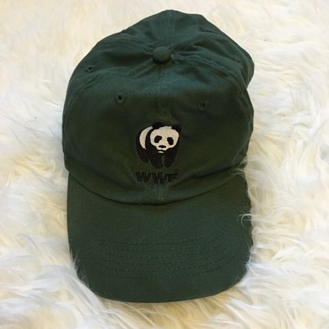 76bccf63090 Vintage World Wildlife Foundation Hat. One size fits all. - Depop
