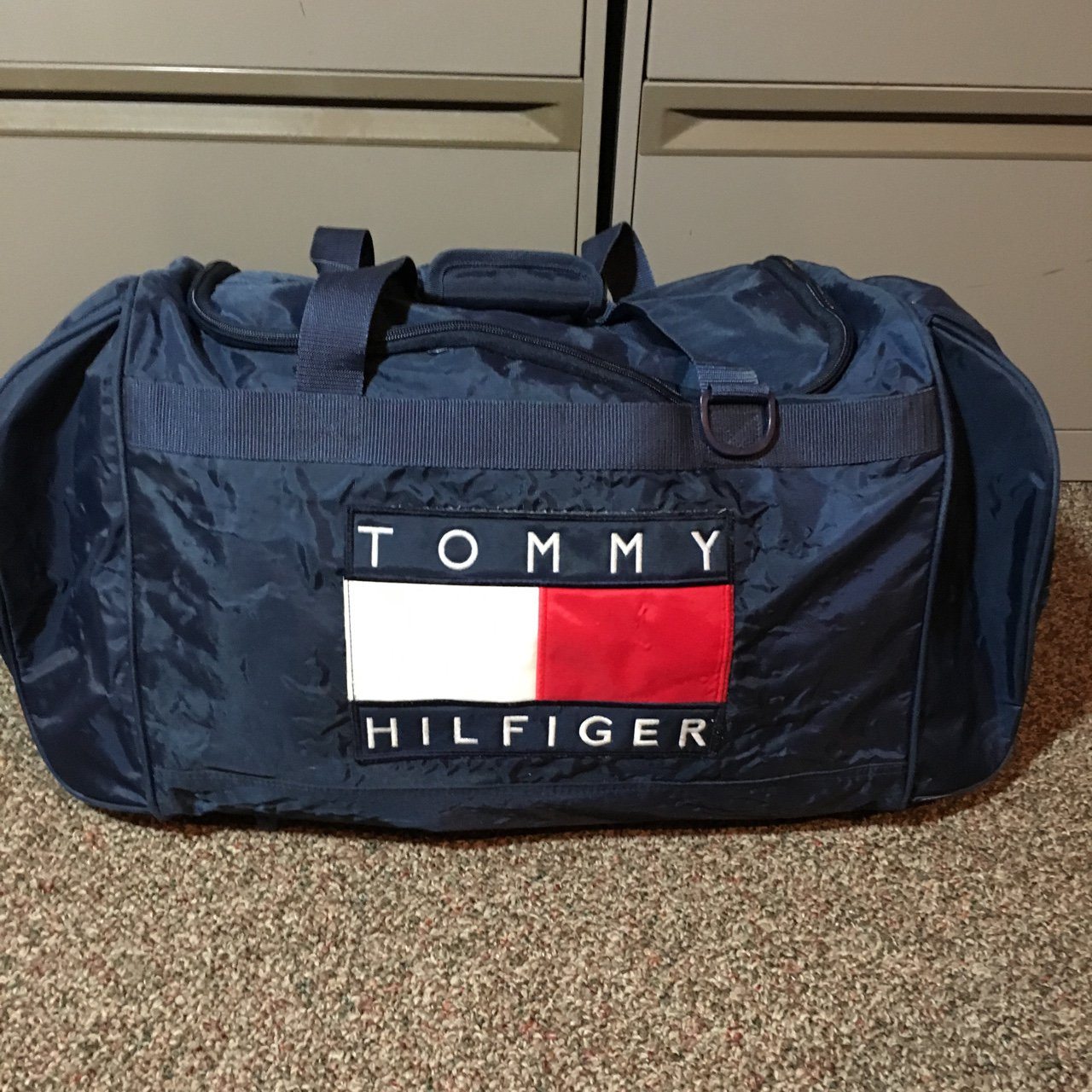 Vintage Tommy Hilfiger Duffle Bag Condition 9 10 Secure The - Depop