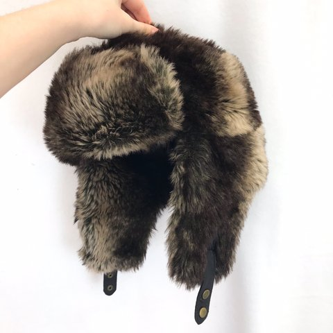 a8873ac31d5 H M faux fur trapper hat! Super fluffy fuzzy and all around - Depop